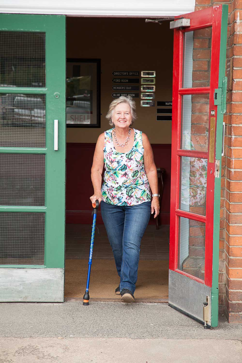 Flexyfoot Telescopic Walking Stick In Use