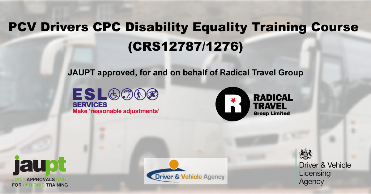 PVC Drivers CPC Disability Equality Training (DET) Course