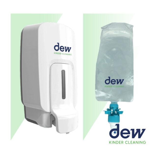 dew wall mounted sanitiser dispenser